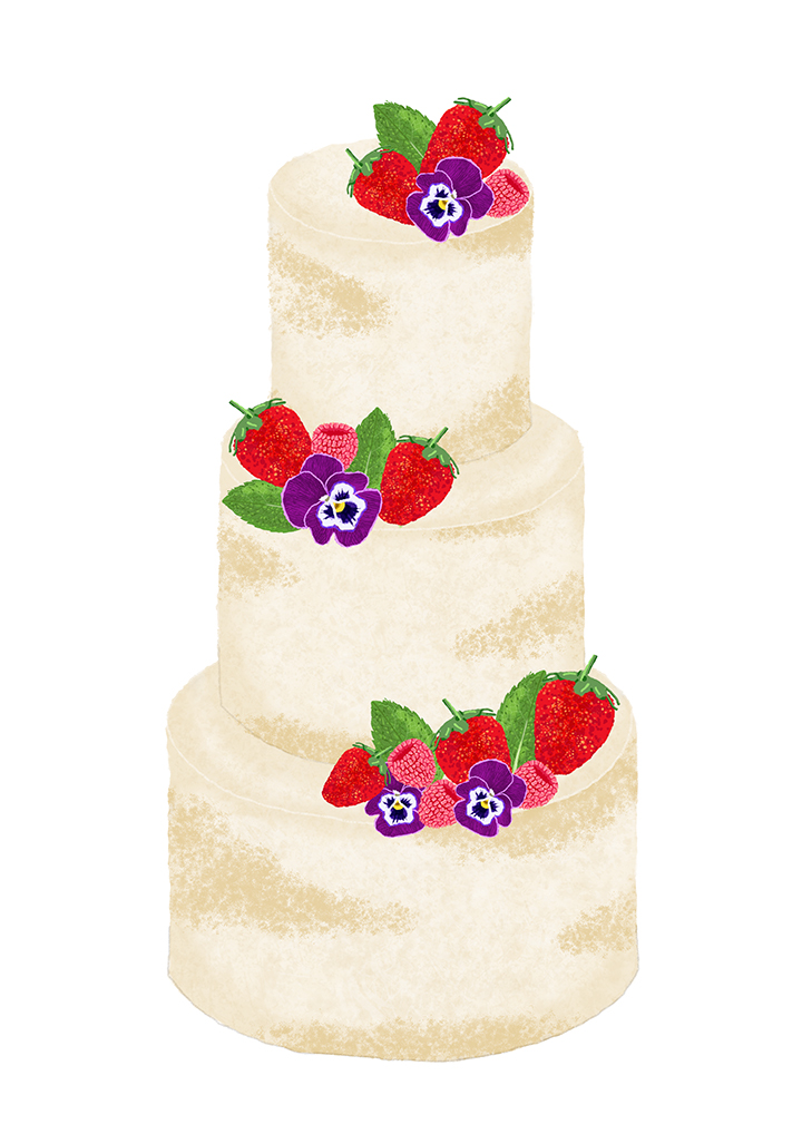 Berry Semi-Naked Wedding Cake Design - Hampshire - Love from Lila