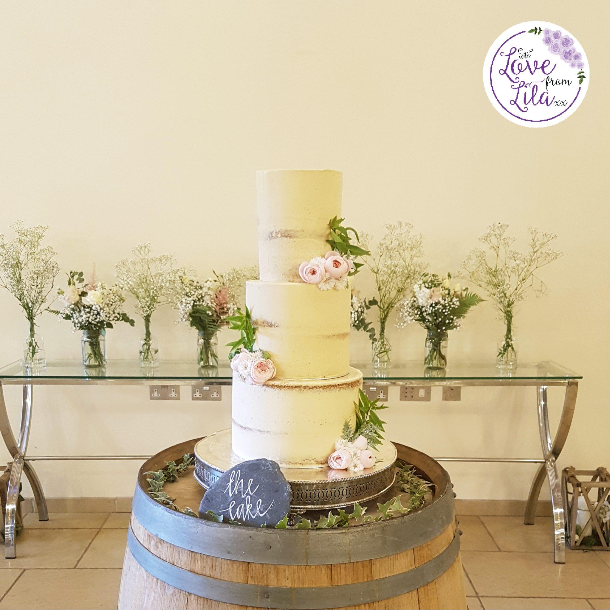 Love from lila xx - Wedding Cake