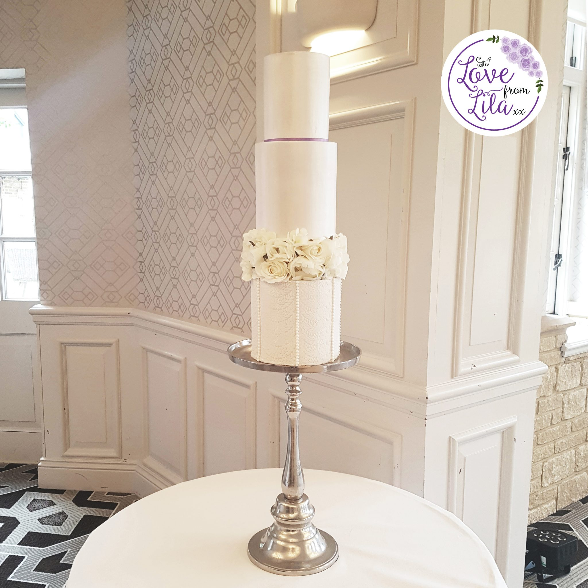 Love from lila xx - Pennyhill Park Wedding Cake