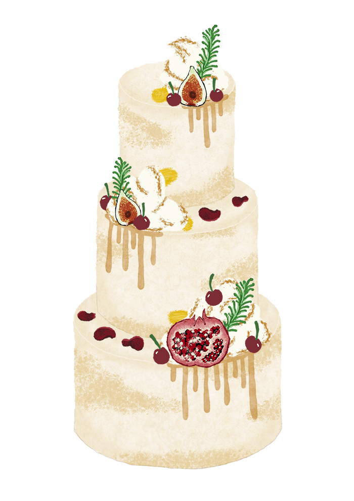 Average Wedding Cake Cost - Autumn Semi Naked Cake Surrey - Love from Lila COMPRE