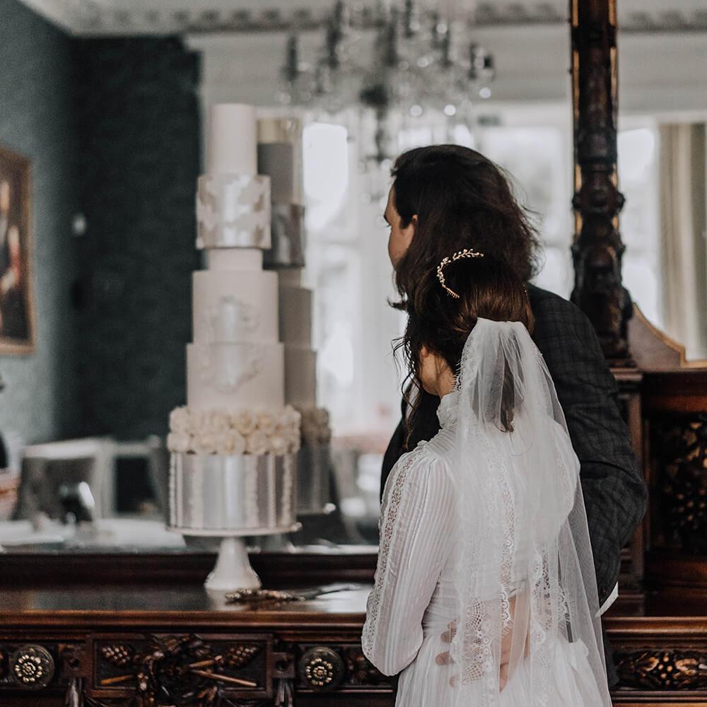 Ornate Wedding Cake - Leonardslee Gardens, Sussex - Love from Lila