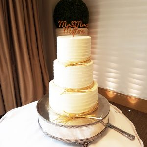 Rustic Buttercream Wedding Cake - The Runnymede Hotel, Staines, Surrey - Love from Lila
