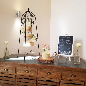 Semi-Naked Hanging Wedding Cake - Millbridge Court, Farnham, Surrey - Love from Lila