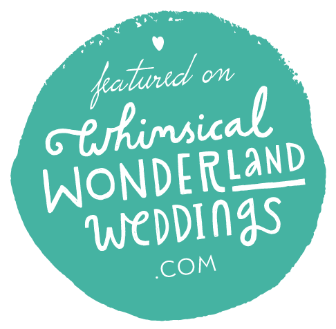 Featured on Whimsical Wonderland Weddings Blog Badge