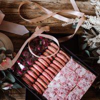 Handmade Marshmallows, Macarons, Chocolate Truffles in Gift Box