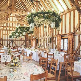 Barn Set Up for Wedding