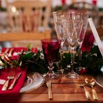 Gold and Red Wedding Tablescape