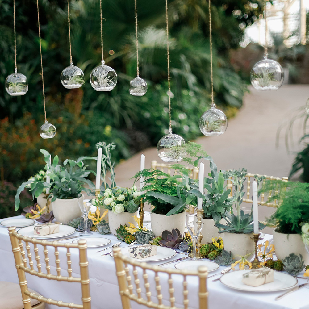 Wedding Table Set Up in Glass House