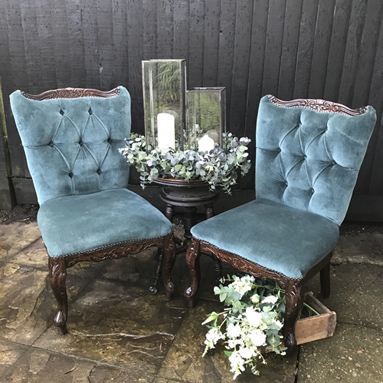 Teal Armchairs