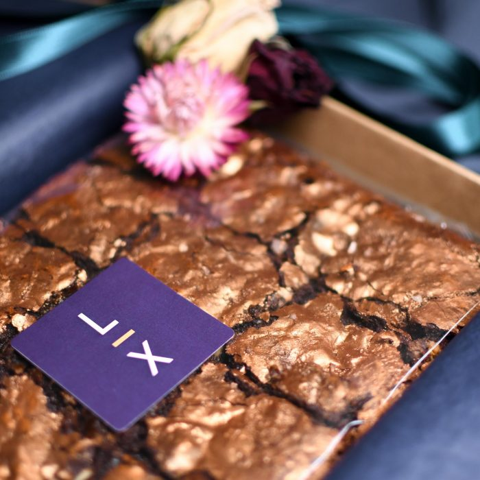 Chocolate Brownies Dusted with Bronze Shimmer Dust