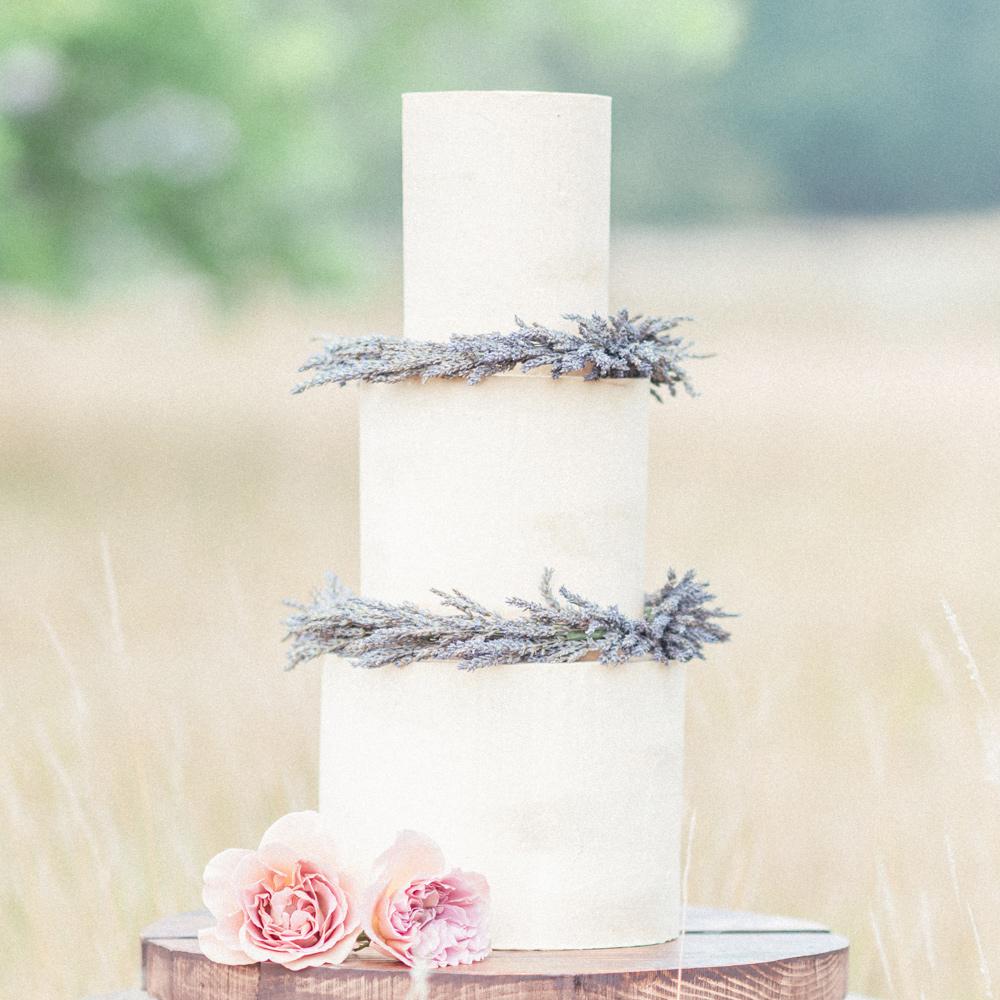 Simple 3 Tier Semi-Naked Wedding Cake